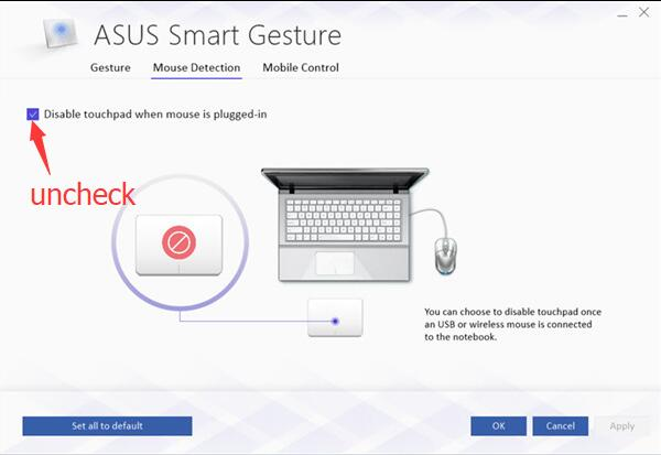 asus smart gesture there is a problem with this windows installer package