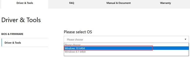 select windows 10 64 bit