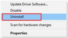 uninstall bluetooth mouse driver