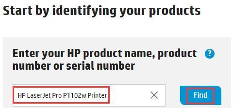 h[ printer model