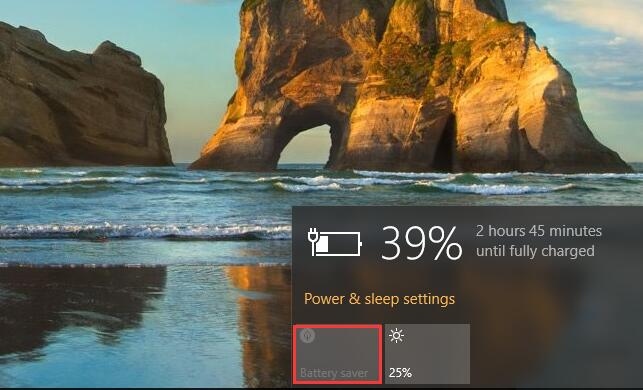 battery saver mode on windows 10