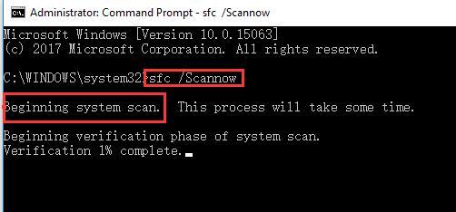 begin system scan