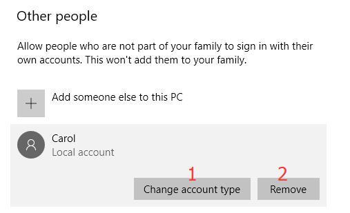 change account
