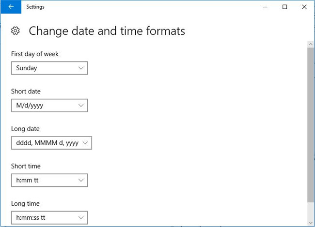 change date and time format settings