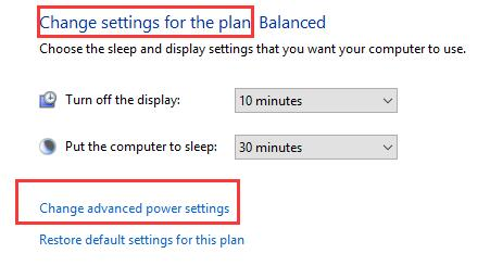 change power plan settings