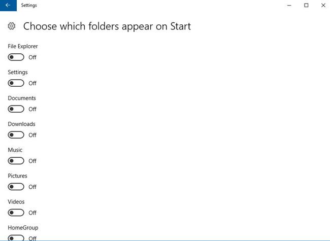 choose folders