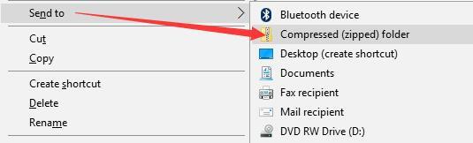 compress folder