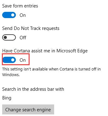 have cortana assist me in microsoft edge