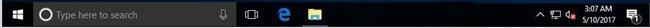 hide taskbar