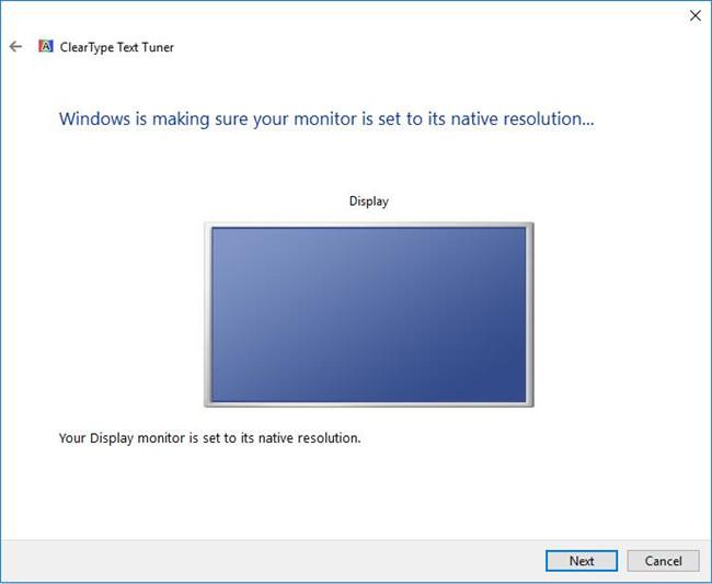 set monitor to native resolution