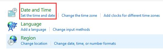 set the time and date