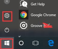 settings in start menu