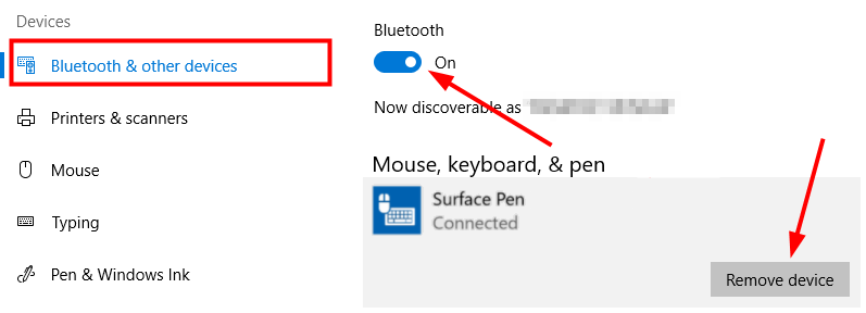 surface pen remove device