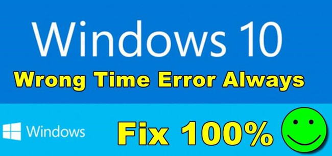time always wrong windows 10