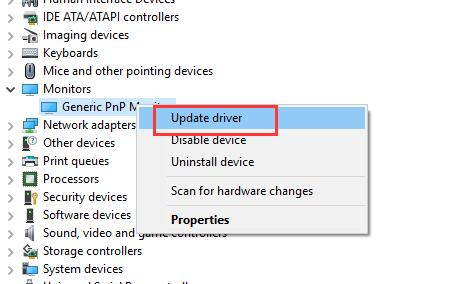 How to change the resolution of the Generic pnp monitor on windows