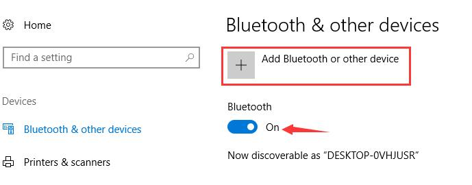 add bluetooth devices
