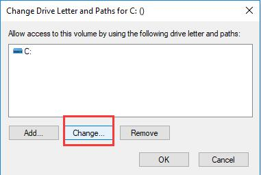 change the hard drive letter