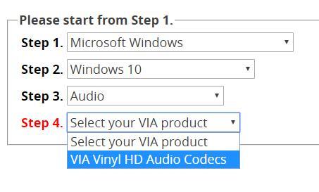 via hd audio drivers windows 10
