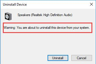confirm uninstall device