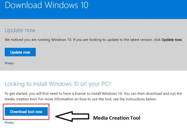 download media creation tool