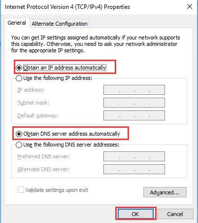 obtain an ip address