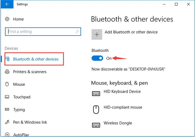 open bluetooth on laptop