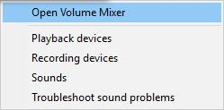open volume mixer