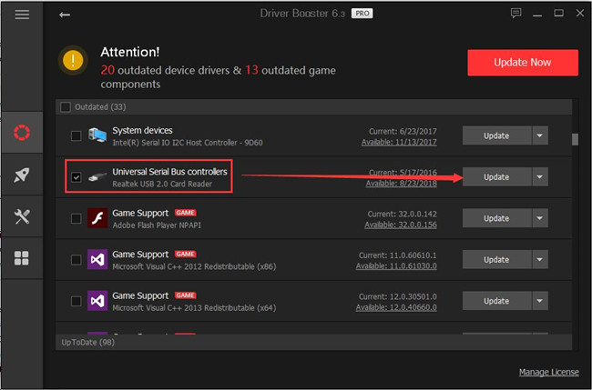 driver booster update usb driver