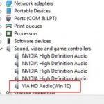 Fix VIA HD Audio Not Working On Windows 10