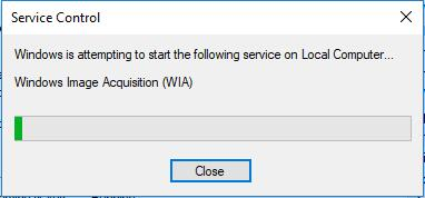 windows attempt to start wia service