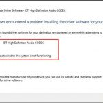 Fix IDT High Definition Audio Codec Driver Not Working  on Windows 10
