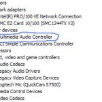 Multimedia Audio Controller Driver is missing on Windows 10