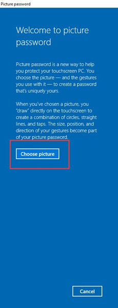 choose pictures