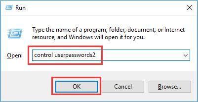 enter control userpasswords2
