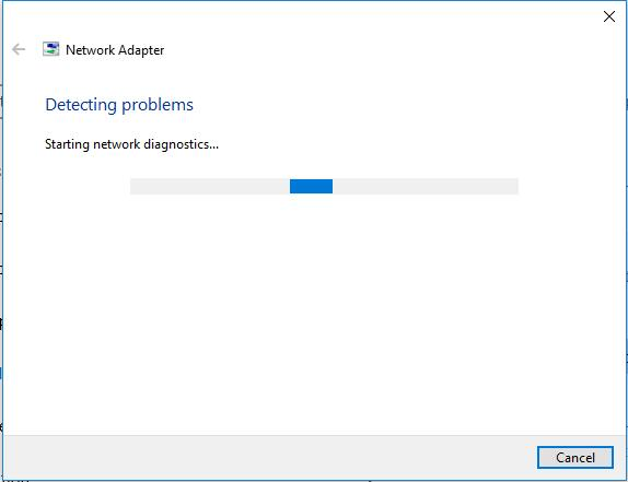 fix network adapter missing error automatically
