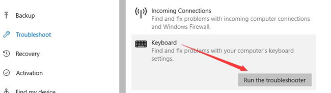 keyboard troubleshooter