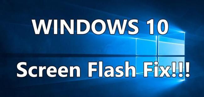 laptop screen flickering windows 10