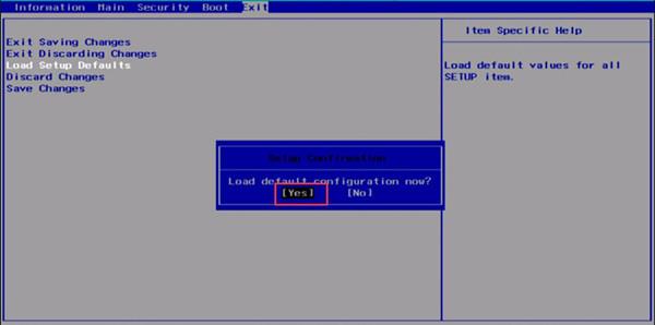 load default configuration