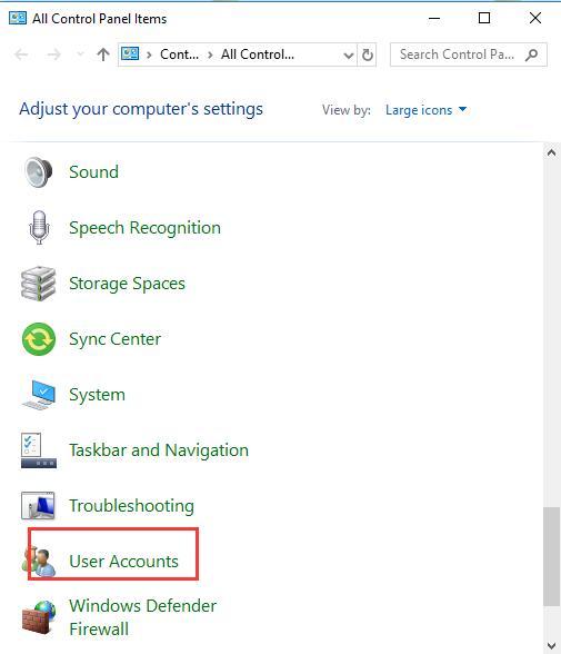 locate user account
