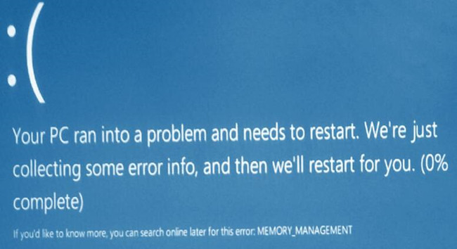 memory management bsod windows 10