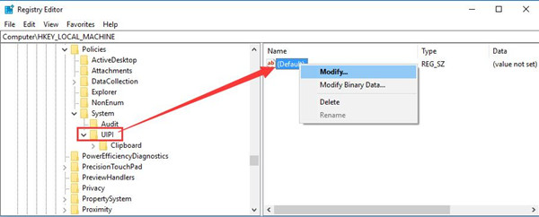 modify date in register