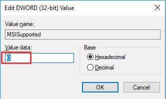 msisupported value data 0