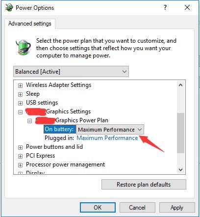 nvidia adapter settings power mode maximum