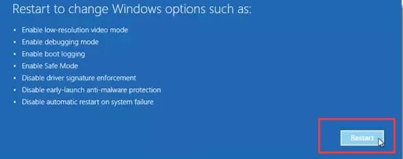 restart when reboot