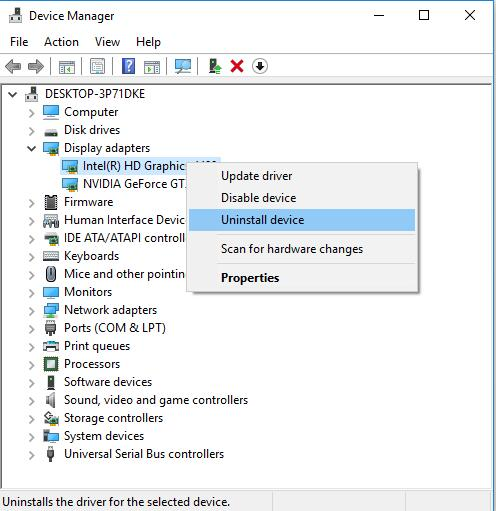 Fixed: Failed to Create D3D Device Windows 10 - Windows 10