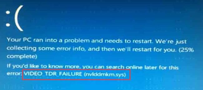 video tdr failure nvlddmkm bsod