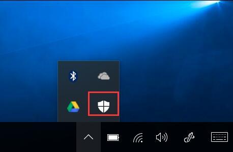 windows defender in notification area