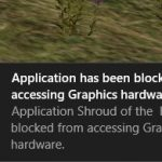 Fix Application Has Been Blocked from Accessing Graphics Hardware Windows 10