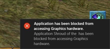 application has been blocked