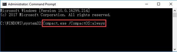 compact.exe compactos always